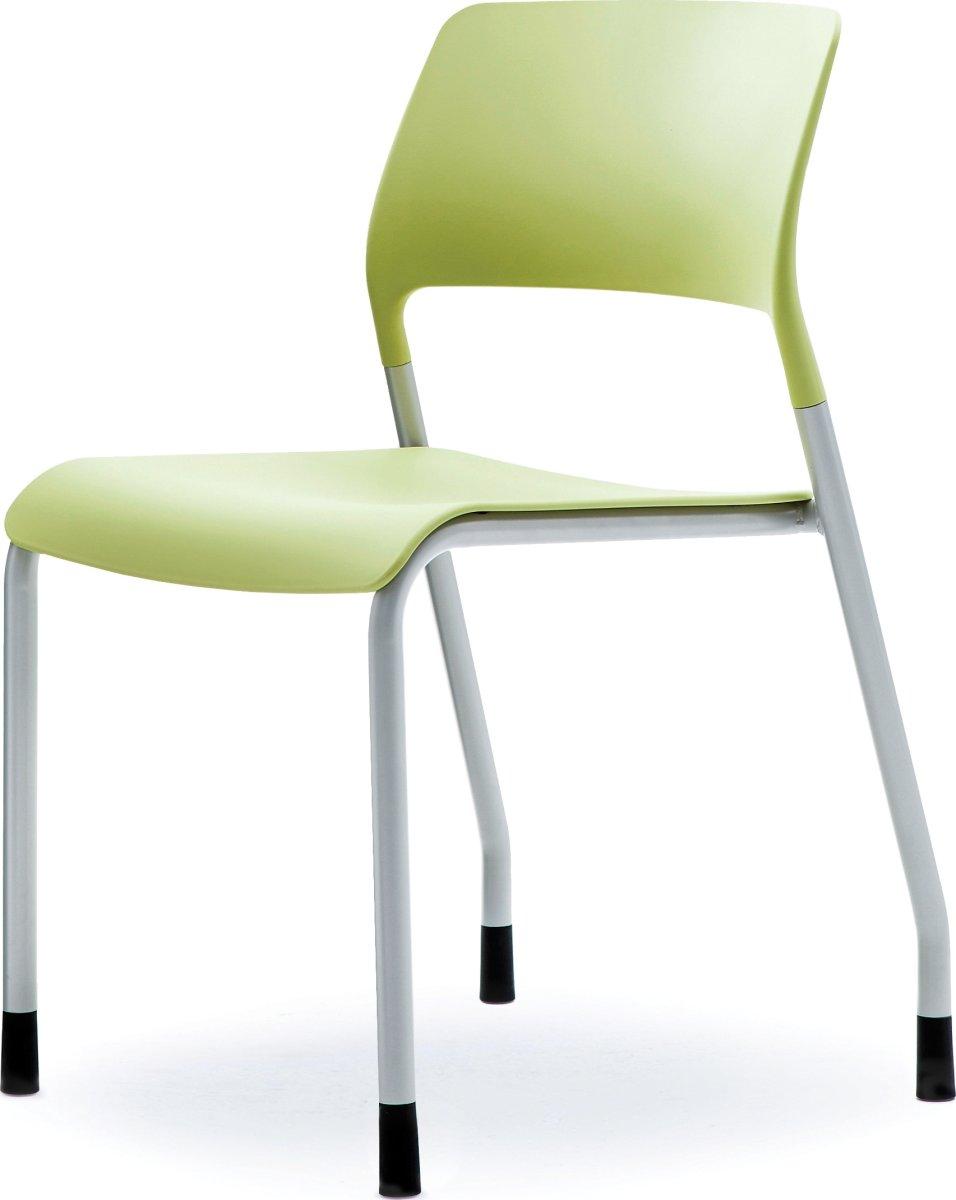 Multi kantine/konferencestol Grøn/sølvfarvet