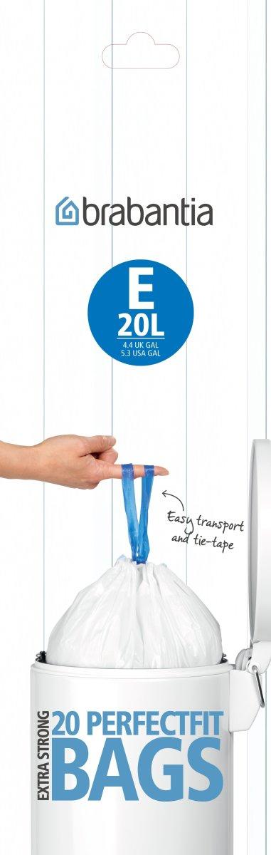 Brabantia Affaldspose E, 20 liter, 20 stk.