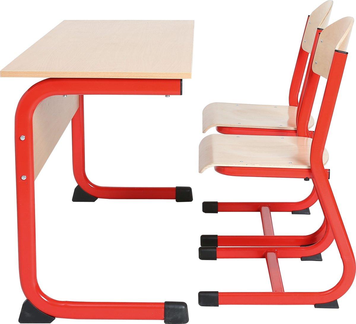 Class dobbelt bord rød, size 3