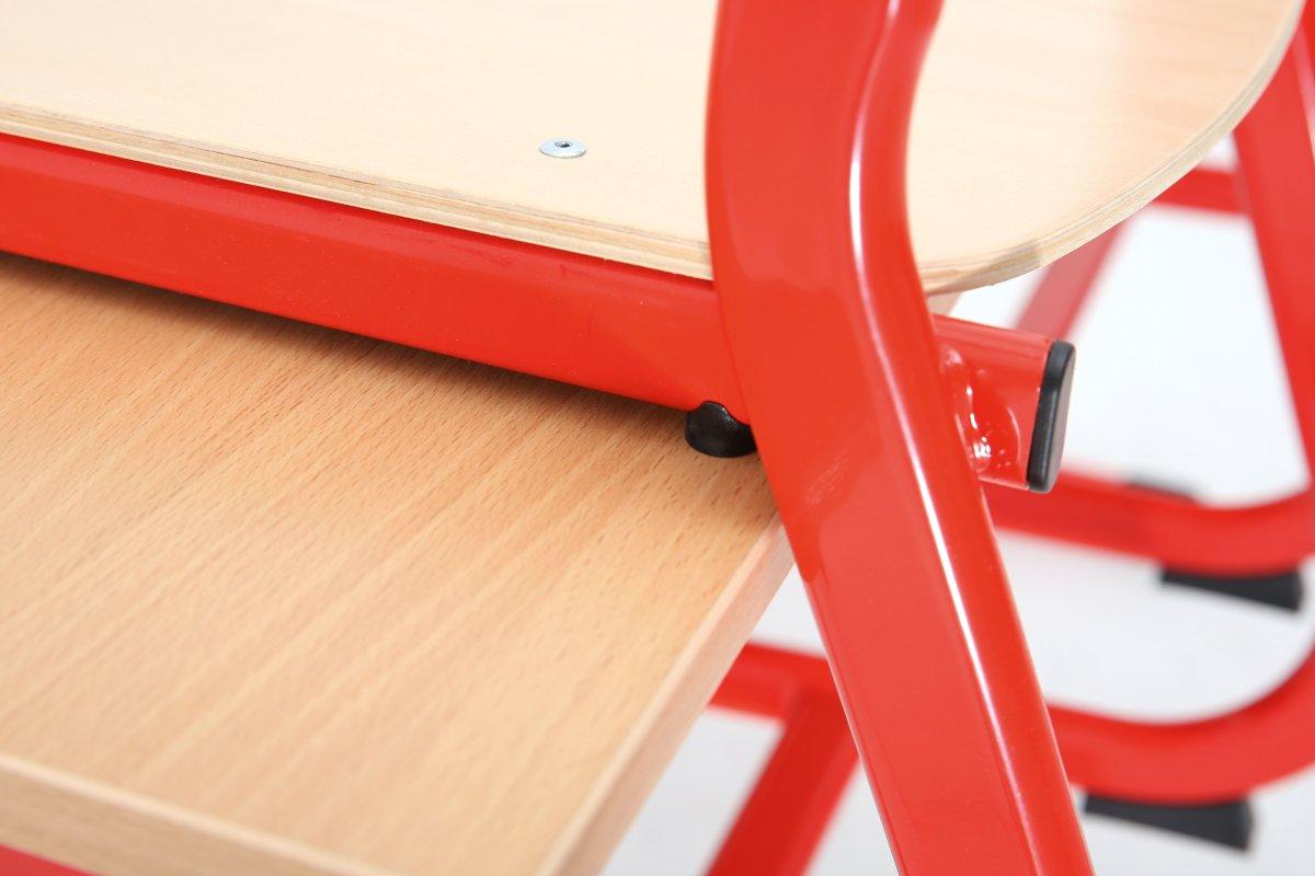 Class dobbelt bord rød, size 5