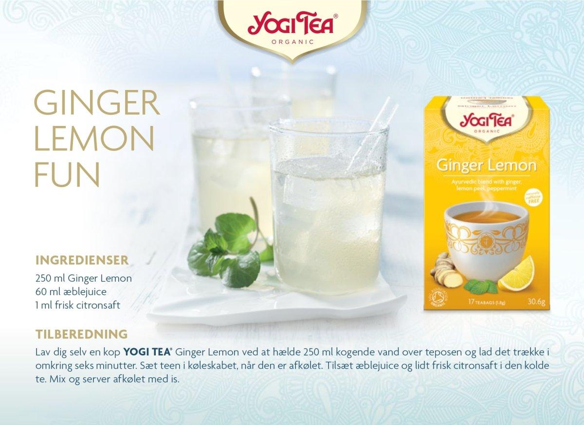 Yogi Tea Ginger Lemon, 17 breve