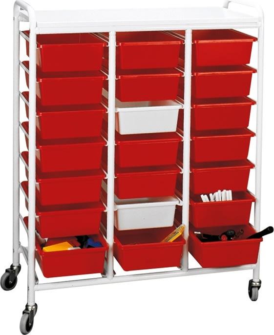 Opbevaringsvogn til plastkasser, 950x420x1180