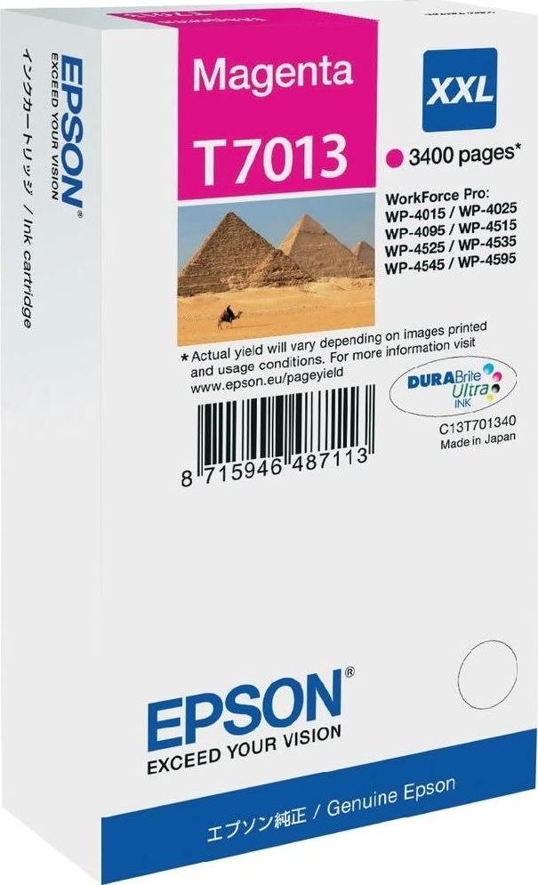 Epson nr.T7013/C13T70134010 blækpatron, rød, 3400s