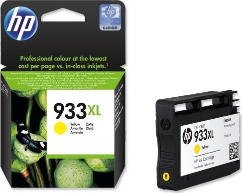 HP nr.933XL/CN056AE blækpatron, gul, 825s