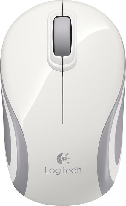 Logitech Wireless Mini Mouse M187, hvid