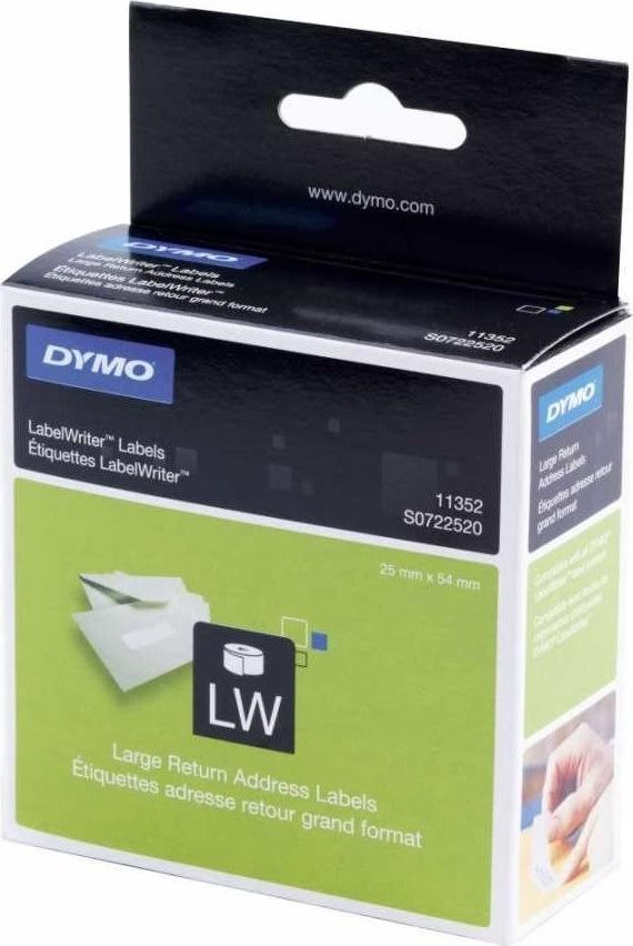 Dymo LW returadr. etiket 25x54 mm