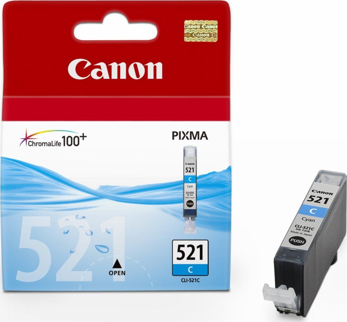 Canon CLI-521C blækpatron, blå, 450s