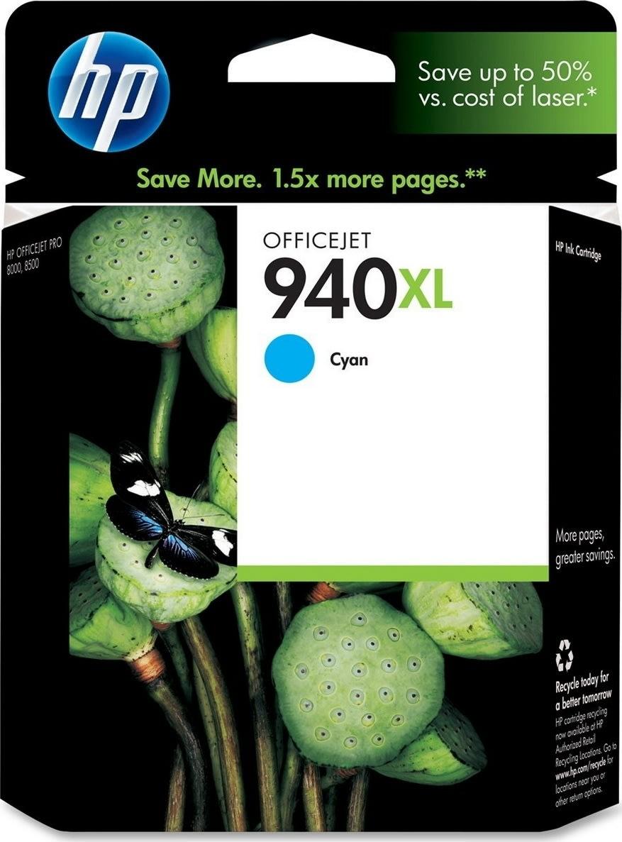 HP nr.940XL/C4907AE blækpatron, blå, 1400s