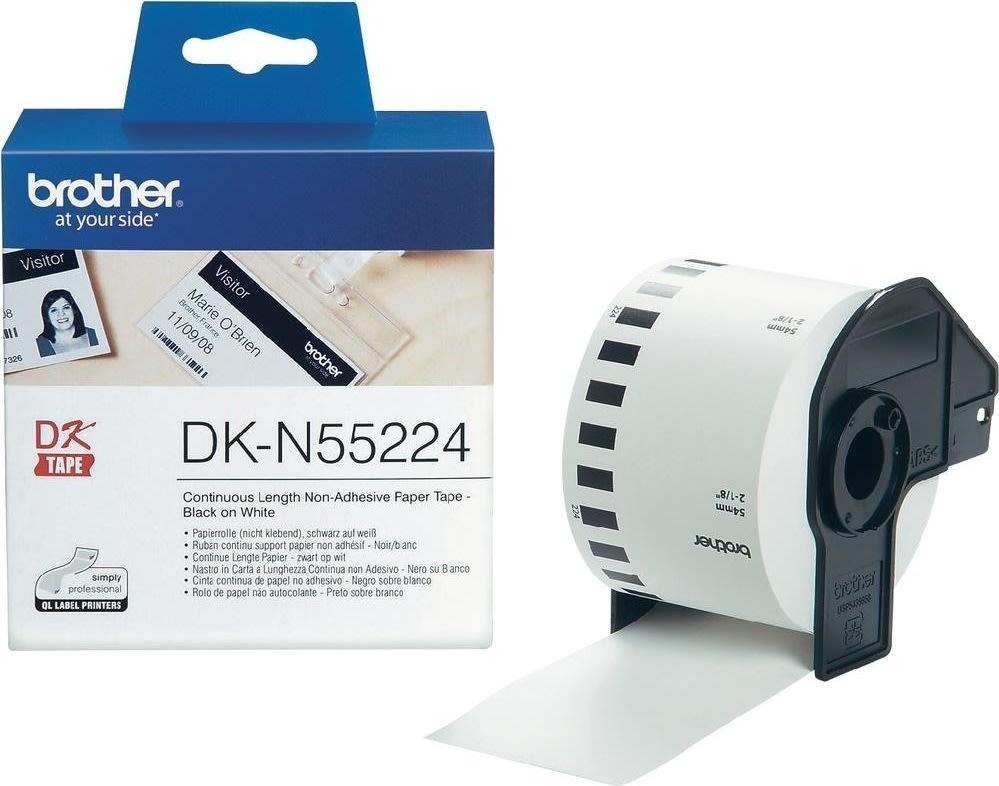 Brother DKN55224 papirtape, 54mm, hvid