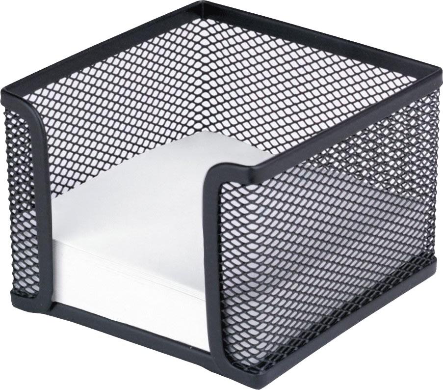 Office firkantet memoholder, sort