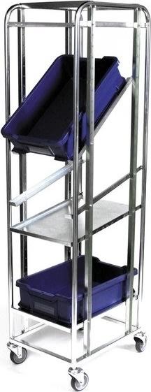Galvaniseret hylde til fleksibel hyldevogn - 1 stk
