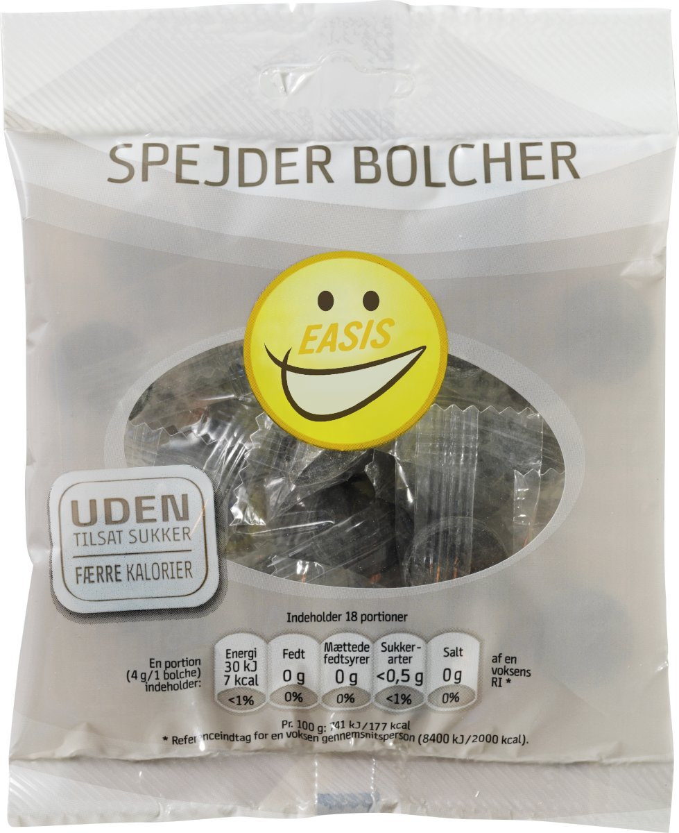 EASIS Spejder Bolcher sukkerfri, 70 g