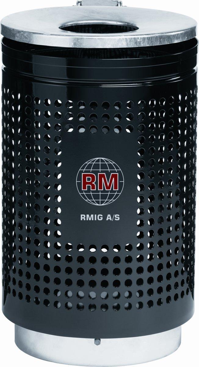 RMIG affaldsspand type 823U, sort mat