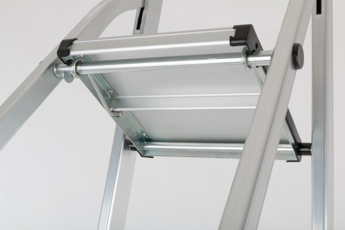 Trappestige 3 trin, aluminium, højde 62 cm