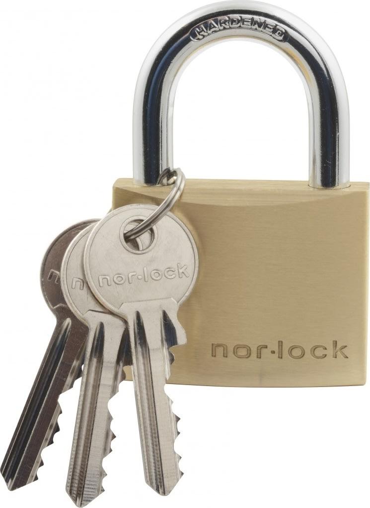 Nor-Lock hængelås m/nøgle, 50 mm