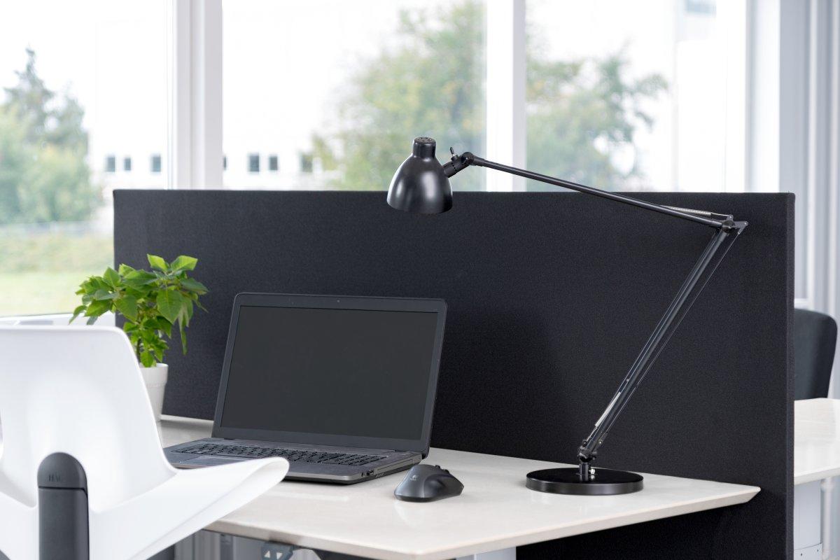 Easy bordskærmvæg H65xB140 cm sort