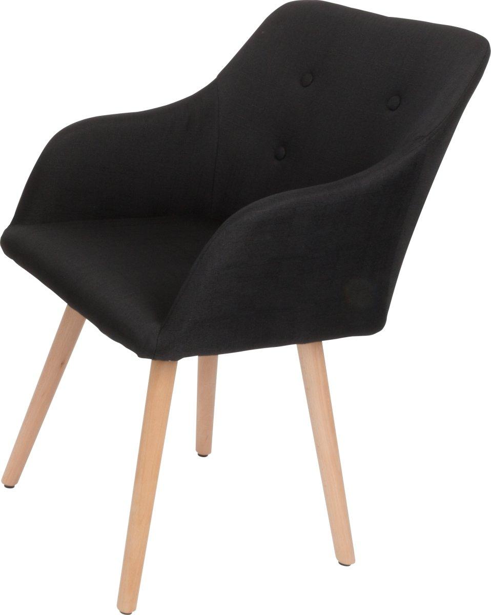 Fano loungestol sort med stel i bøg