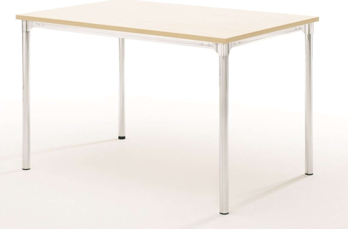 Eminent kantinebord 160x80 cm, bøg melamin / krom