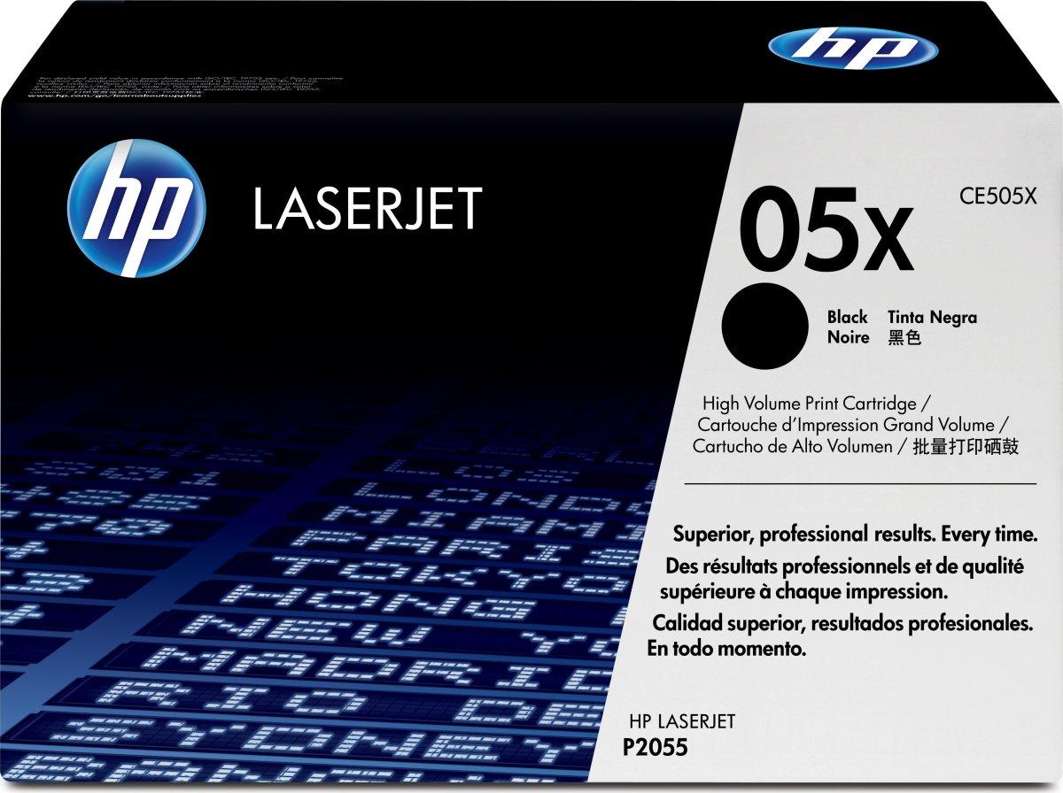 HP 05X/CE505XD lasertoner, sort, 2x 6500s
