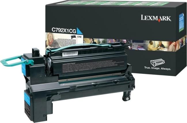 Lexmark C792X1CG lasertoner, blå, 20000s