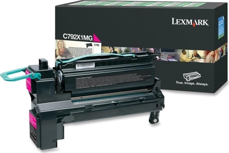 Lexmark X792X1MG lasertoner, rød, 20000s