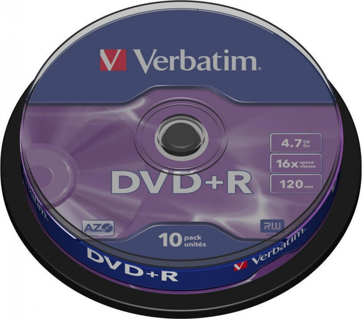 Verbatim DVD+R 16x 4,7GB spindel, 10 stk