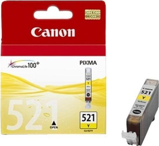 Canon CLI-521Y blækpatron, gul, 450s