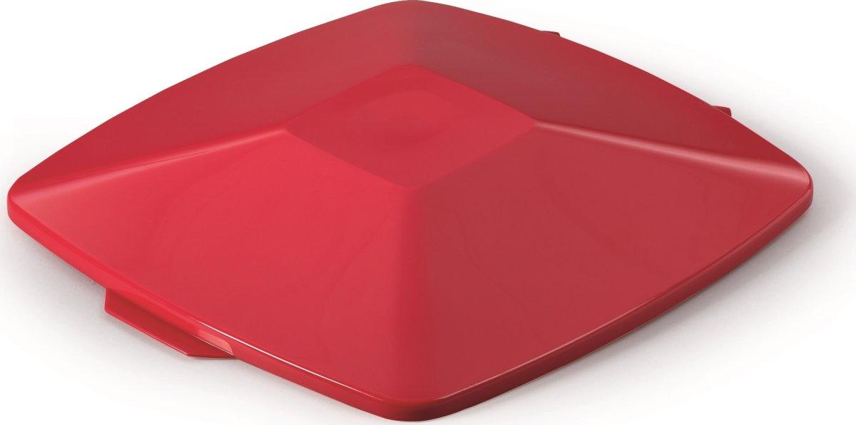 Fladt låg affaldsspand 40 l, Rød