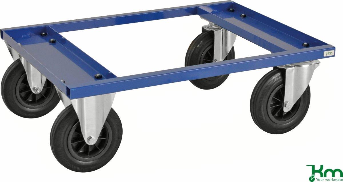 Palletransportvogn Lav, Halvpalle, Blå