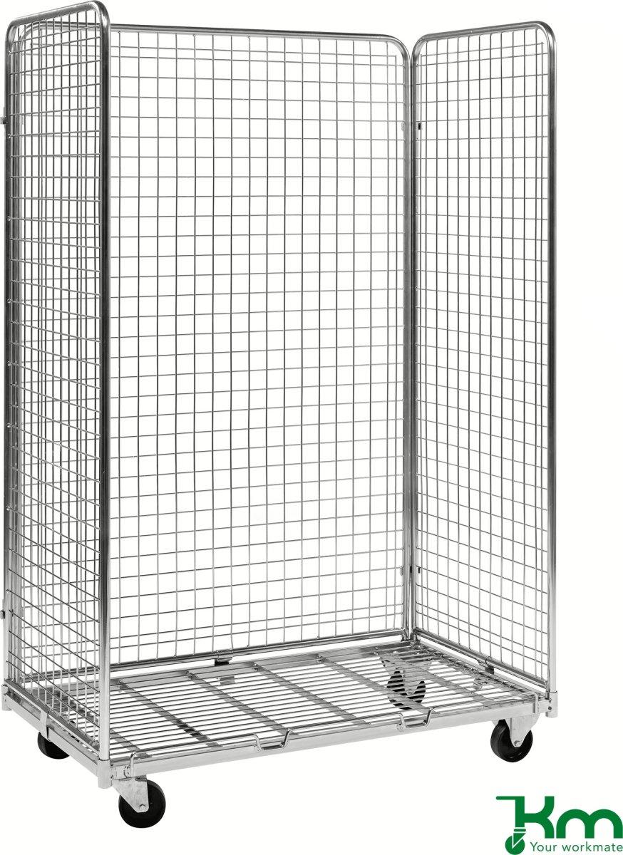 3 sidet rullecontainer til skrå hylder, 115x66x179