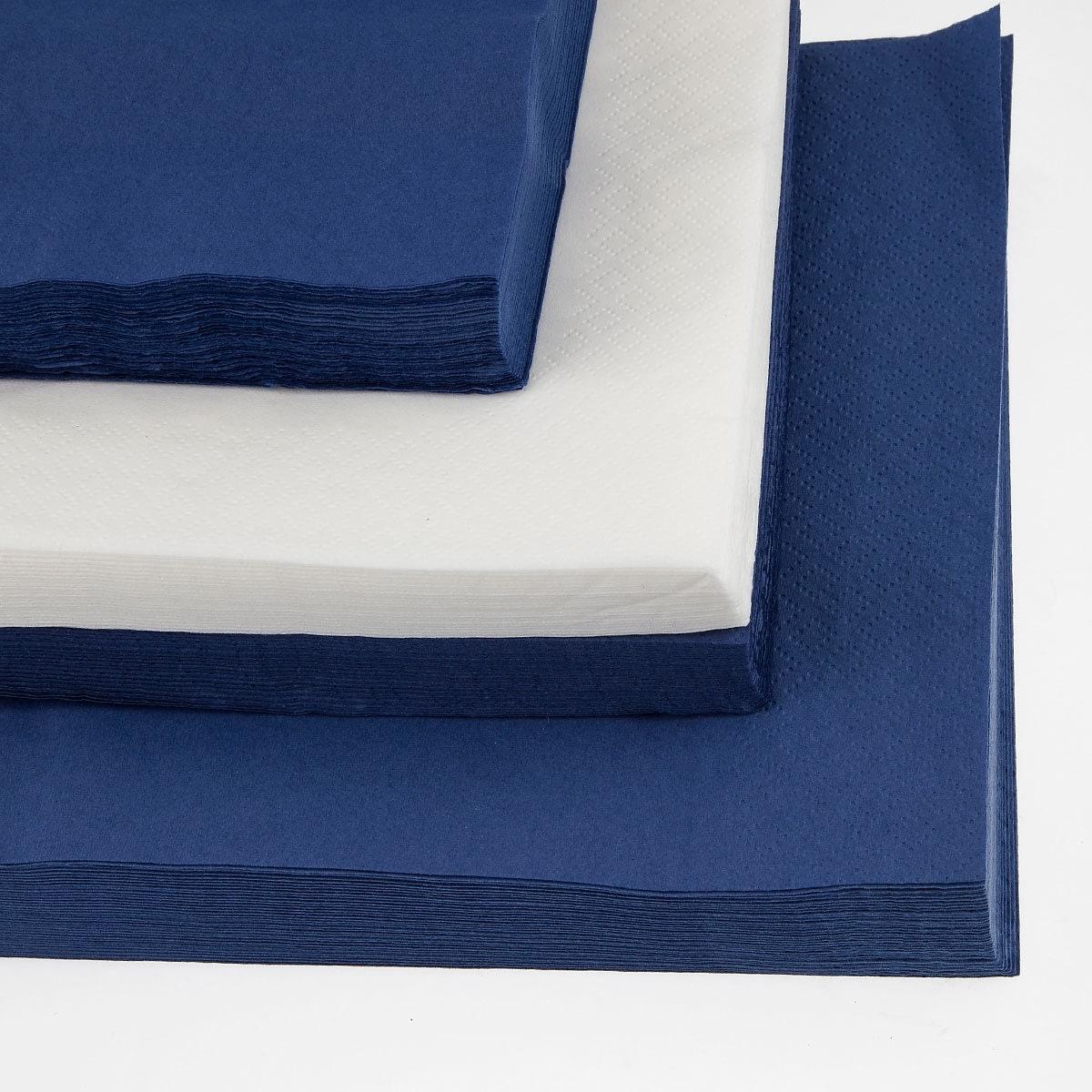 Papirserviet 24 x 24cm, 2-lag, 100stk, blå