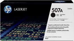 HP nr. 507A/CE400A lasertoner, sort, 5500s