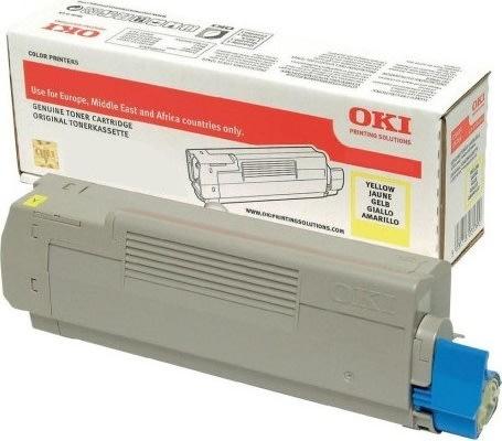 OKI 46443101 lasertoner, gul, 10.000s
