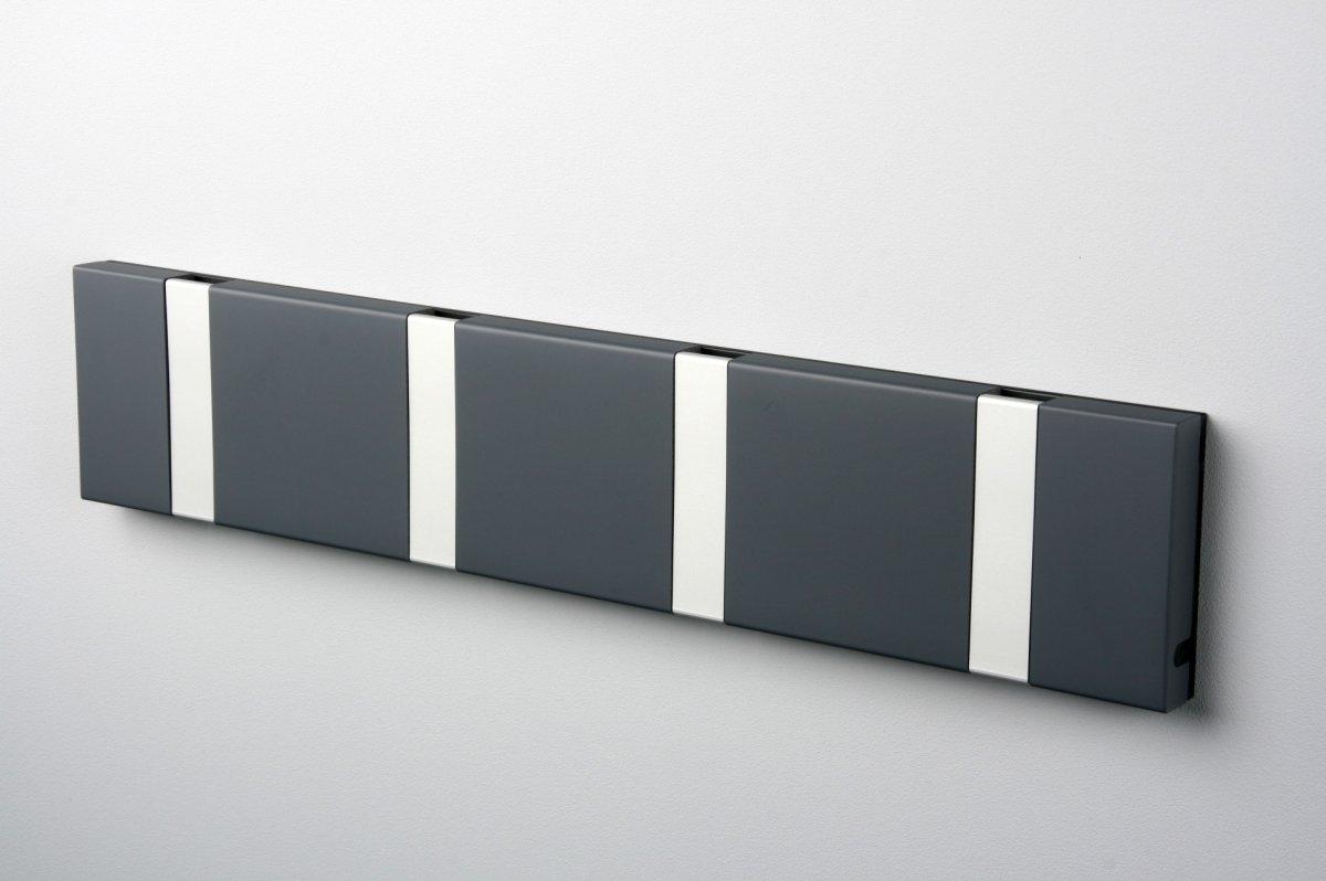 KNAX 4 knagerække, vandret, antracit/grå