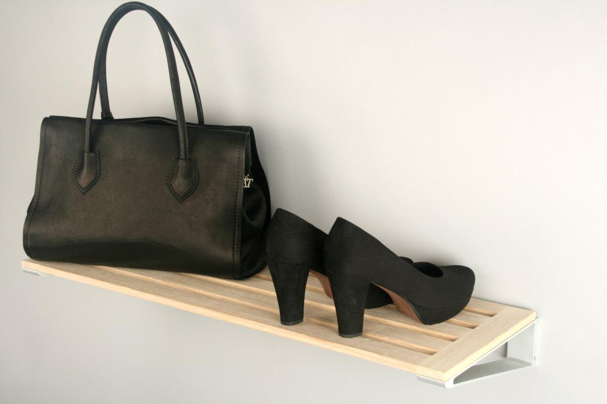 KNAX Skohylde, 80 cm, sortbejdset eg