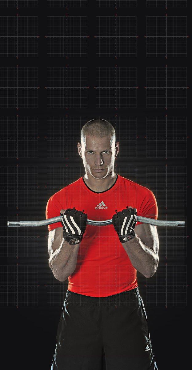 Adidas træningshandsker til vægtløft, Medium