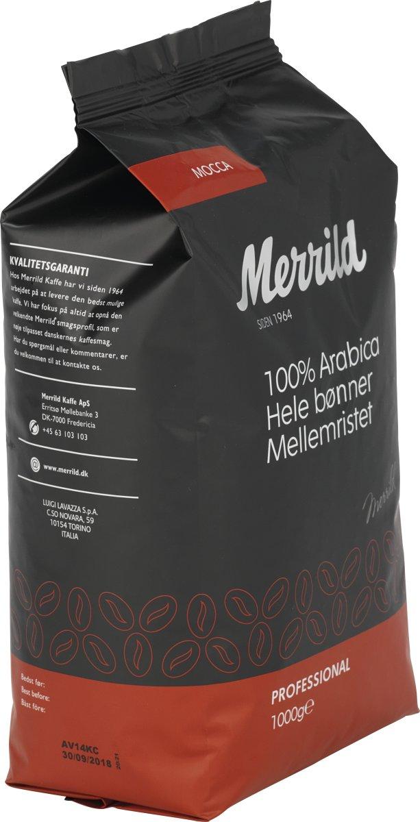 Merrild Mocca helbønner, 1000g
