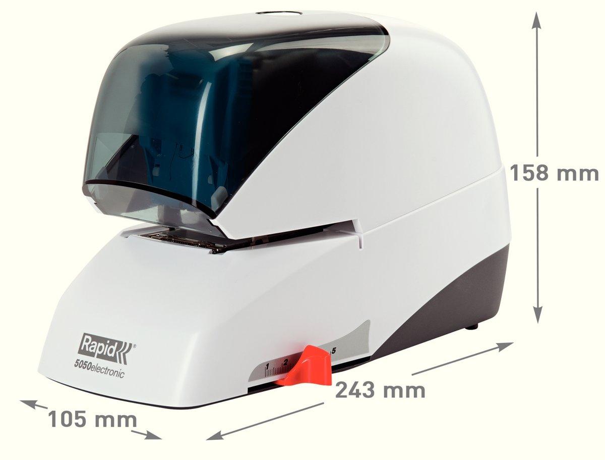 Rapid Supreme R5050e Elektrisk hæftemaskine, sort