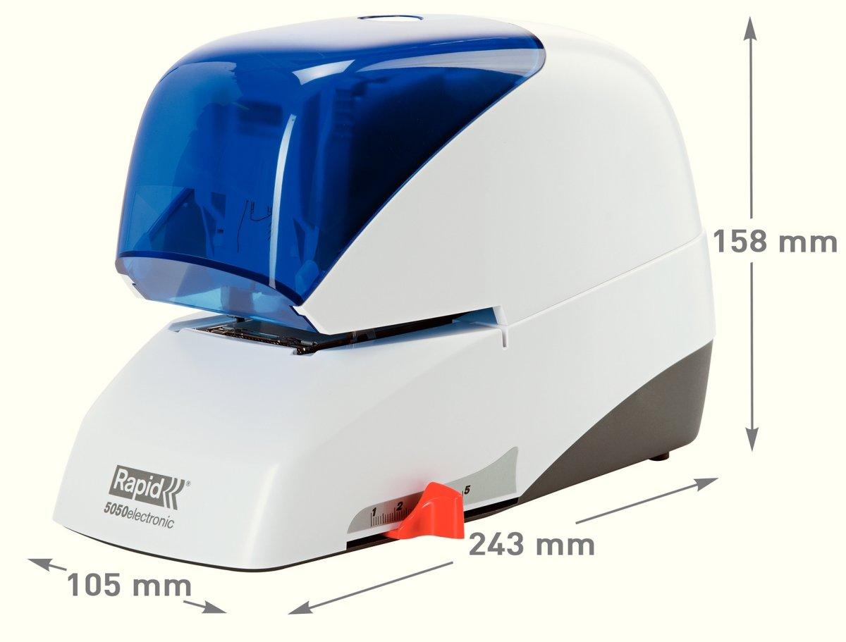 Rapid Supreme R5050e Elektrisk hæftemaskine, blå