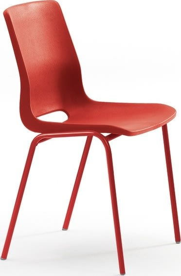 Ana stol u/polster Poppy rød / Lingon