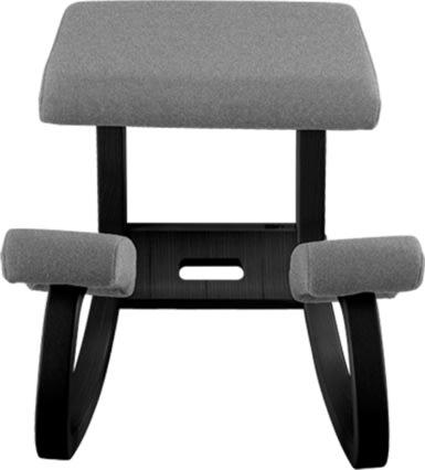 Variable balancestol sort stel med gråt betræk