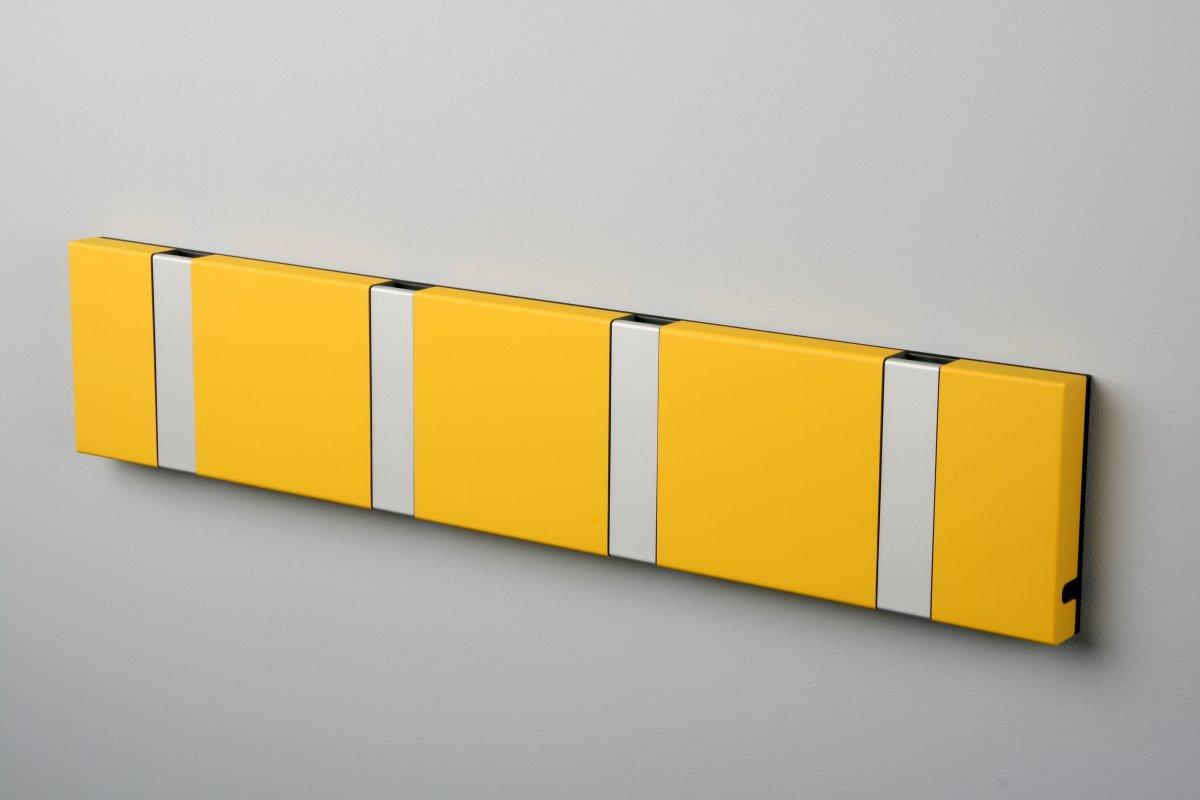 KNAX 4 knagerække, vandret, gul/grå