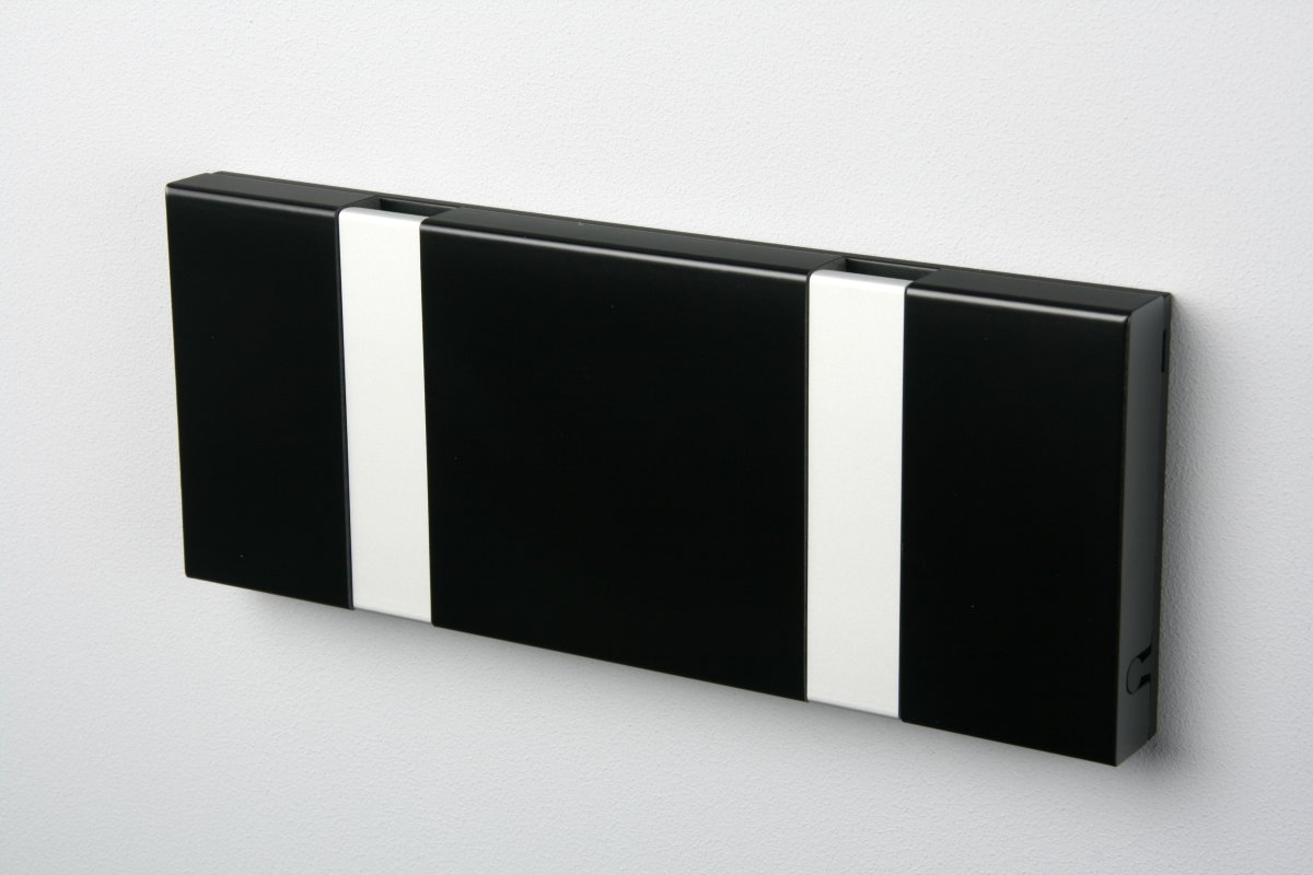 KNAX 2 knagerække, vandret, sort/grå