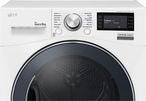LG RC8084AV3W kondens tørretumbler, 8kg, A+++