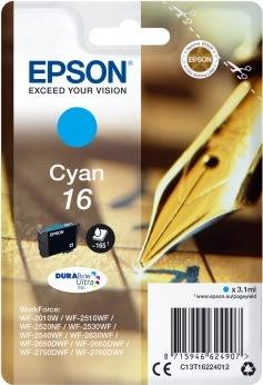 Epson T1622 Blækpatron, 165 sider, blå