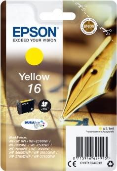 Epson T1624 Blækpatron, 165 sider, gul