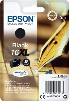 Epson T1631/C13T16314012 XLblækpatron, sort, 500s