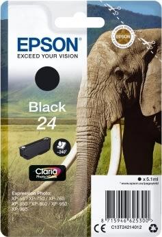 Epson C13T24214012 blækpatron, sort, 240s