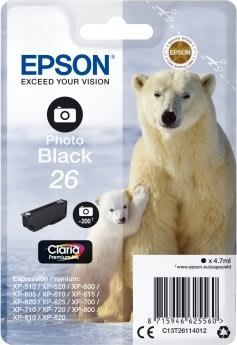 Epson T2611 blækpatron, 200s, fotosort