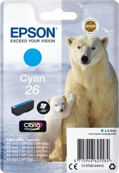 Epson T2612 blækpatron, 300s, blå